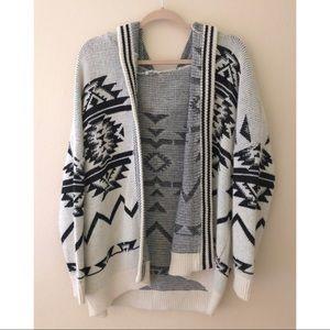 Oversized Ecote Sweater with Hood